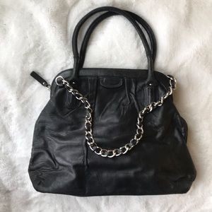Banana Republic Chainlink Leather Tote